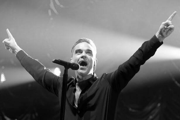 Körpersprache Robbie Williams